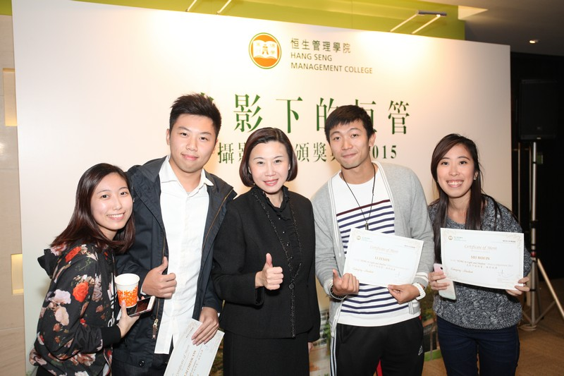 Group photo of Associate Vice-President Scarlet Tso and awarded students