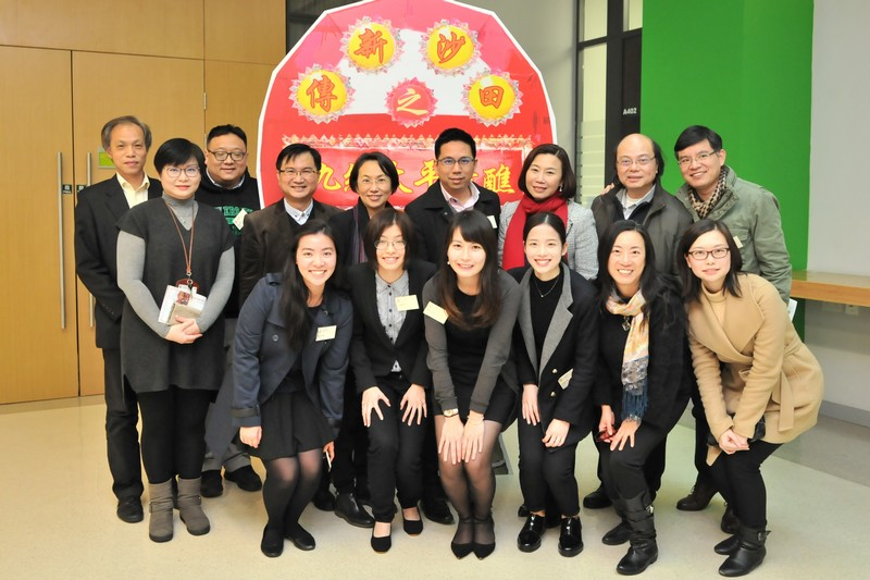 Mr Gary Yeung with academic staff and students from the School of Communication