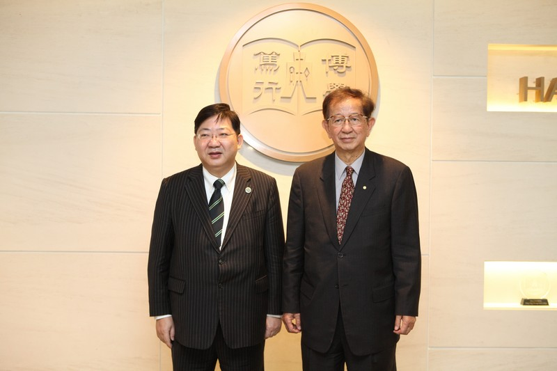 Photos of Professor Lee, President Ho and guests