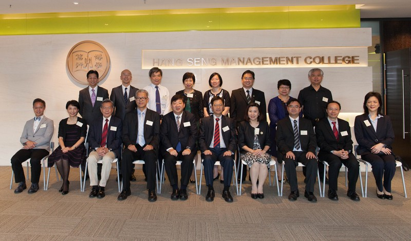 Group photo of HSMC senior management and the delegation of the Association