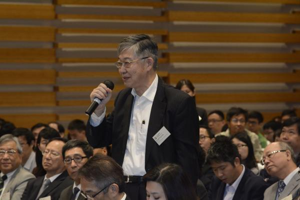 Mr Shih Wing Ching raised question during the Q&A session