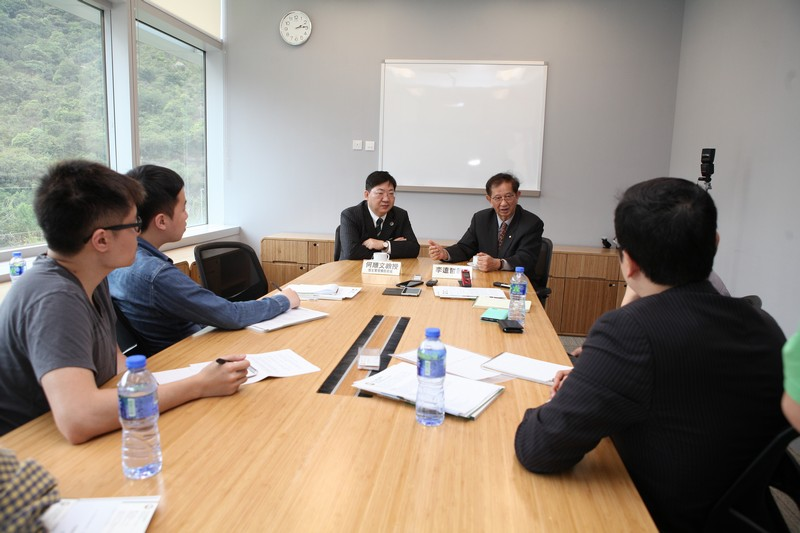Professor Lee and Professor Ho were interviewed by the media