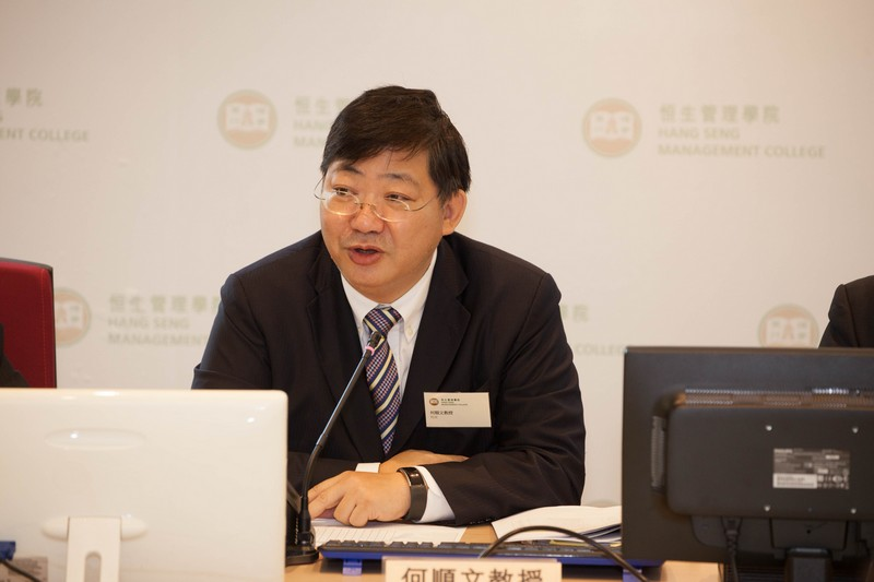 President Simon S M Ho gave welcoming remarks at the ceremony