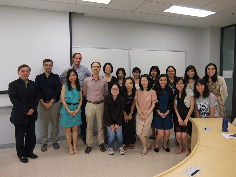 Group photo of Dr Marius Chan, teachers and students