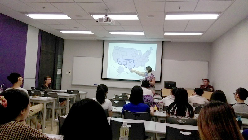 Shelly Griggs from the United States gave students an insight into American cuisine in different states