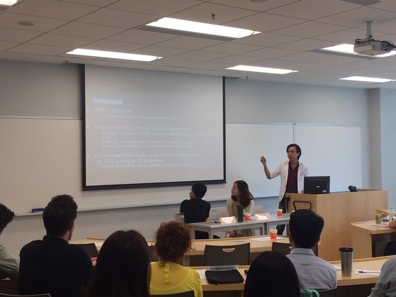 Snapshots of the presentations