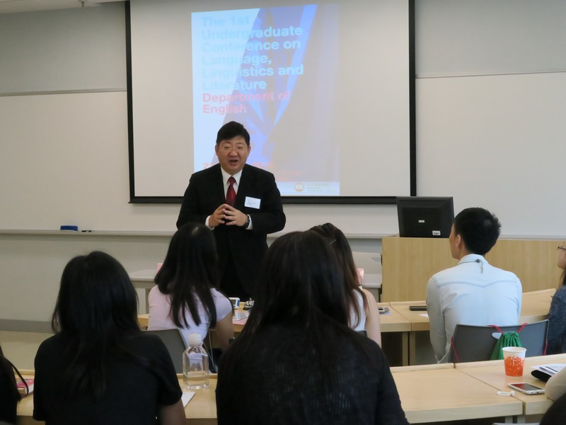 President Simon Ho expressed his appreciation and encouragement to our students