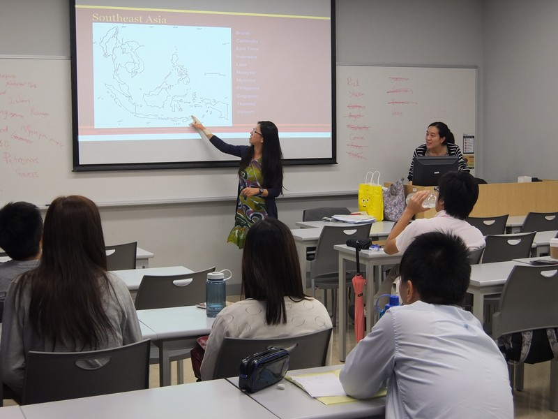 May Khoo from Malaysia explored the geographical features of the culturally diverse country with our students