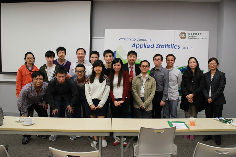 A group photo of the participants and the speakers