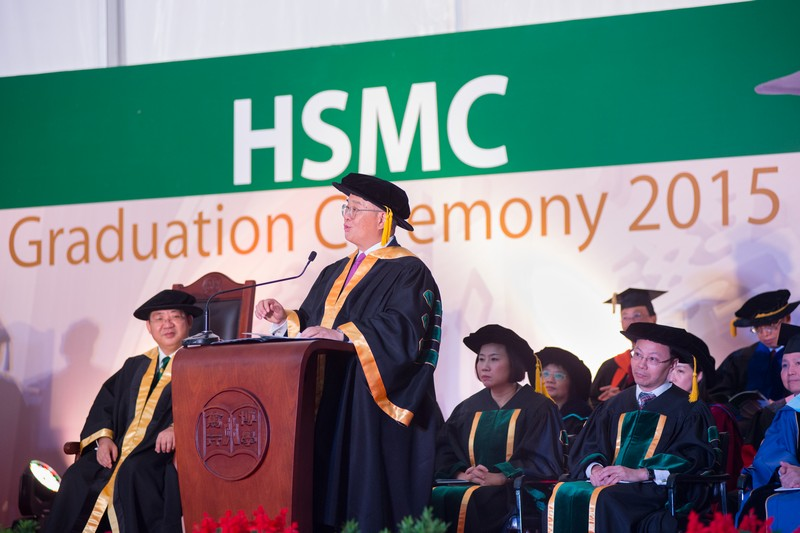 The new Chairman of the College Council, Dr Moses Cheng, blessed the graduates