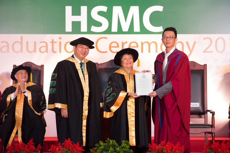 Ms Rose Lee in the company of President Simon Ho presented the awards to the recipients of HSMC Teaching Excellence Awards