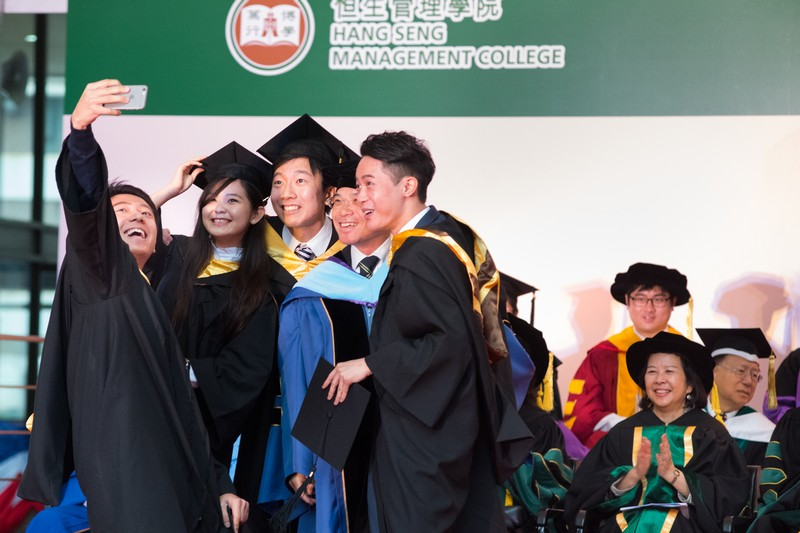 Dean Raymond So (School of Business) presented the graduands for the Bachelor Degree and Associate Degree in Business Administration to the Chairman of Board of Governors for the conferment of Bachelor Degree and Associate Degree in Business Administration and congratulated the graduates