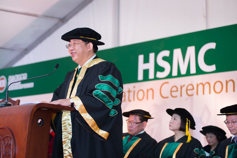 President Simon Ho delivered a speech at the Graduation Ceremony