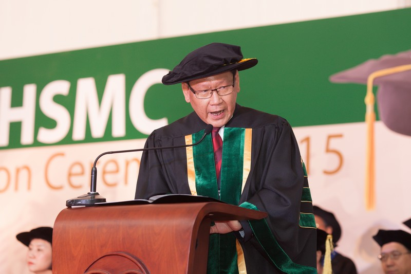 Dean Gilbert Fong (School of Translation) presented the graduands for the Bachelor Degree in Translation with Business to the Chairman of Board of Governors, for the conferment of Bachelor Degree in Translation with Business and congratulated the graduates