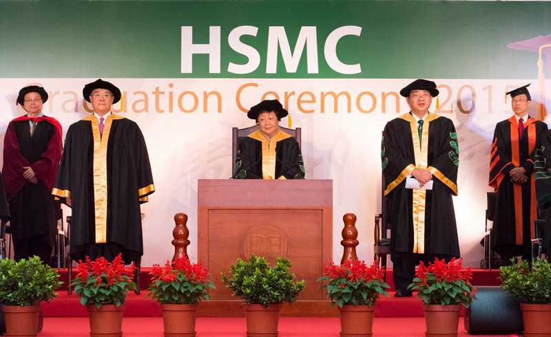 Ms Rose Lee, Chairman of the Board of Governors of HSMC, officiated at the Ceremony