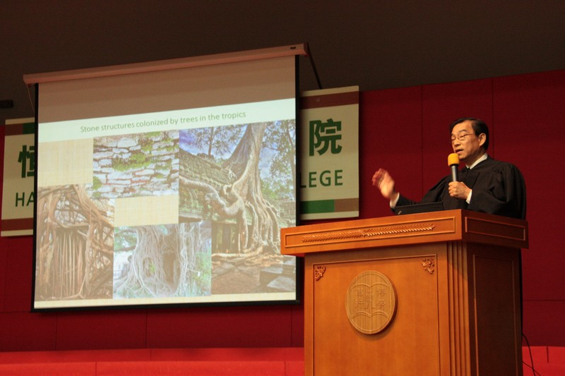 Keynote speaker, Professor CY Jim, Chair Professor of Department of Geography, The University of Hong Kong