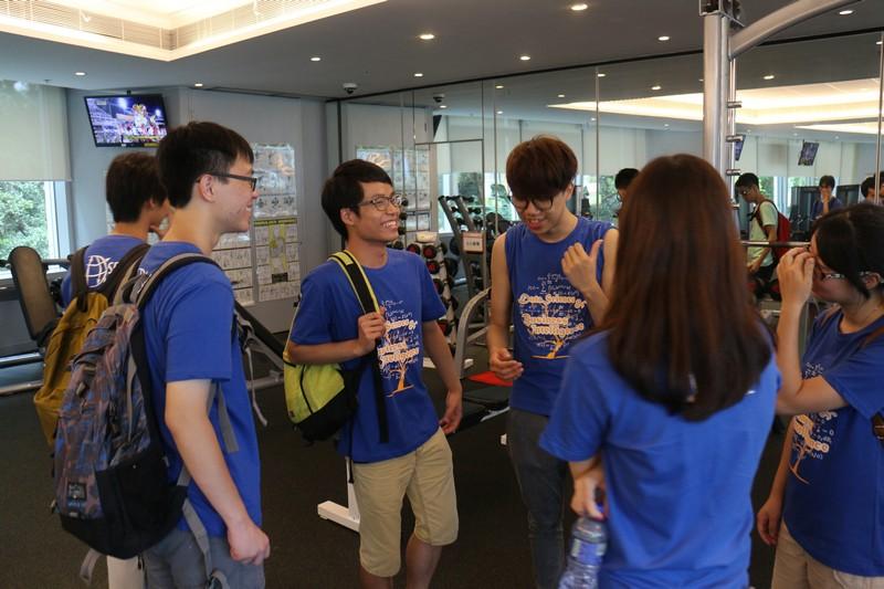 Touring around the campus