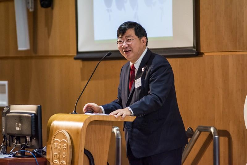 President Simon S M Ho gave a speech