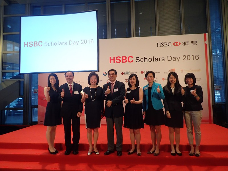 (Left to right) Ms Yan Lau, Associate Vice-President Tom Fong, Dr Rosanna Wong, Mr Carlson Tong, Ms Diana Cesar, Ms Rebecca Chan, Ms Chris Wong and Ms Alice Chan