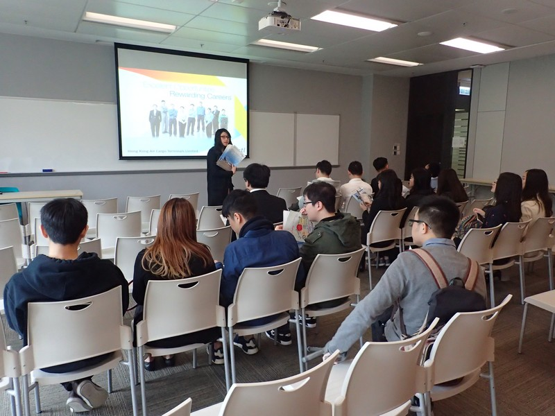 A recruitment talk hosted by Hong Kong Air Cargo Terminals Limited