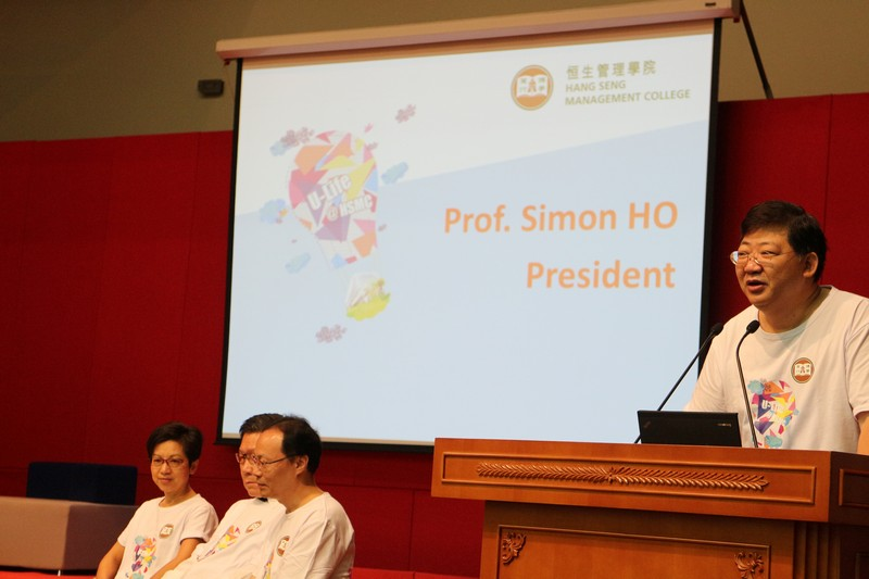 President Simon S M Ho welcoming our new students
