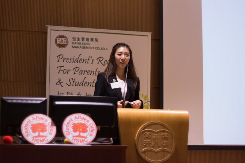 Ms Pan Wong, BJC Year 4 student, depicted her gain from being an overseas intern and student ambassador