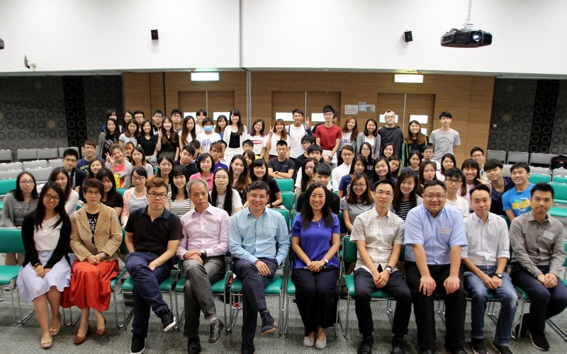 Group photo of academic staff and students of the School of Communication