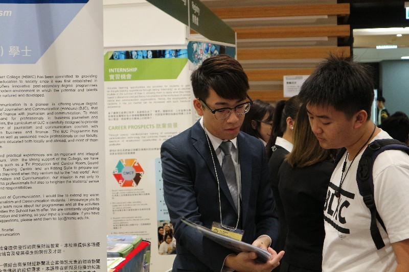 Professors and students from the School of Communication answered enquiries