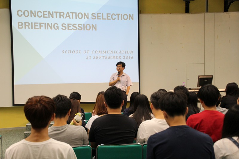 Associate Dean James Chang of BJC Programme, elaborated the key notes on concentration selection