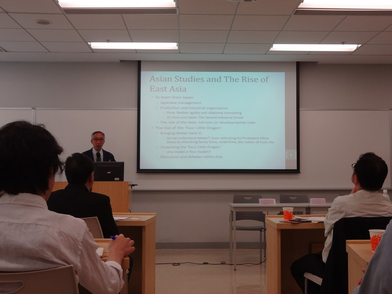 Professor Lui Tai Lok presented on Beyond the Search of Recipe for Economic Success: New Directions in Asian Studies