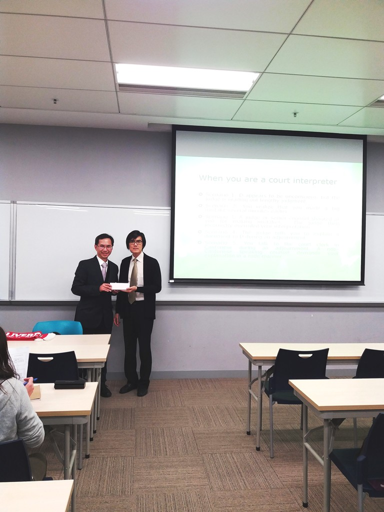 Mr Yeung (left) and Dr Elvis Lee, the Programme Director of MATBL