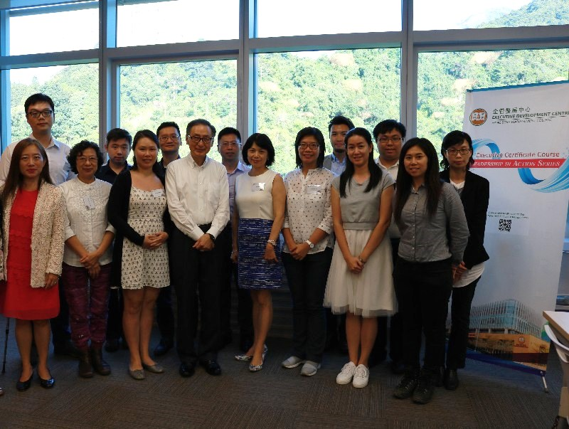 A memorable group photo with the trainer, Mr Sunny Wong and the course participants