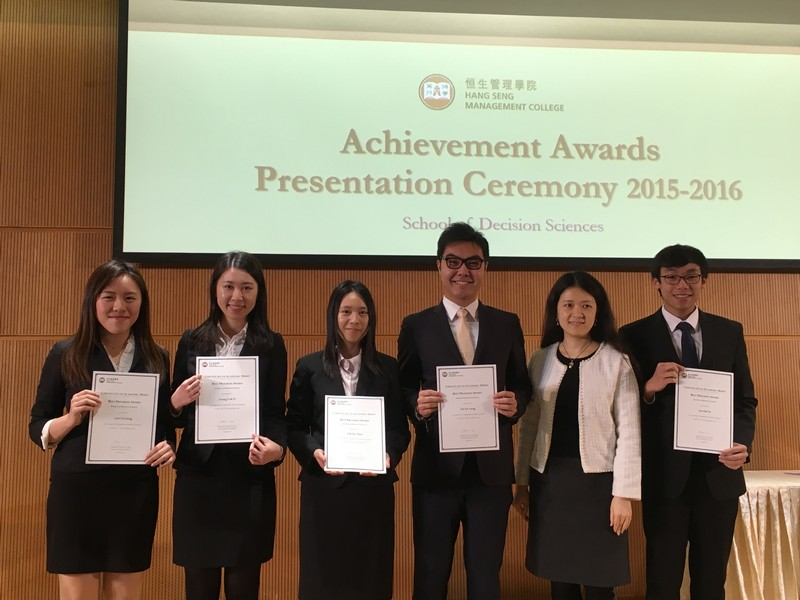 Dr Collin Wong presented the Best Progress Award to students of Department of Supply Chain and Information Management