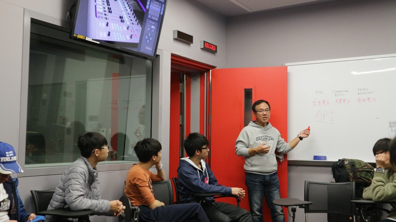 Mr Eric Ng talked about the positioning of local radio companies