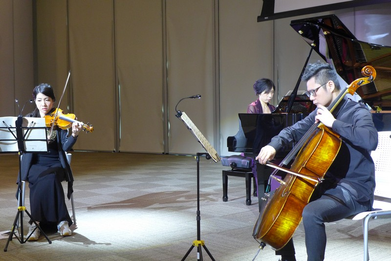 "Joycelyn Cheung, Alice Tang and Edgar Ng performed ""Gassenhauer Trio""."