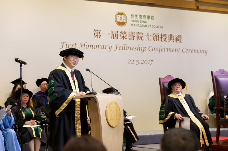 President Ho giving his address