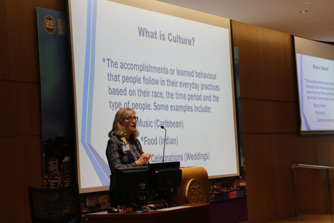 "Professor Judy Zaichkowsky from Simon Fraser University shared her research on ""The Ethics of Culture Erosion through Retail Globalisation""."