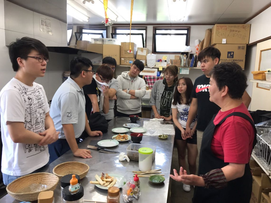 Meeting Ms Yoshimoto, a local social entrepreneur, to learn the unique pickled mushroom preparation method.
