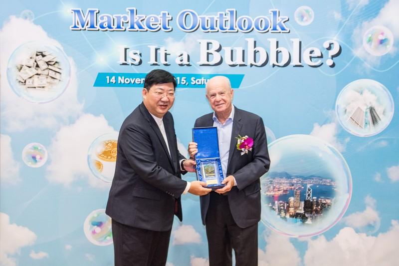 President Simon S M Ho presented a souvenir to Dr Edward Atlman