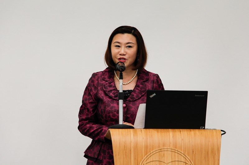 Dean Scarlet Tso of School of Communication gave a welcoming speech.