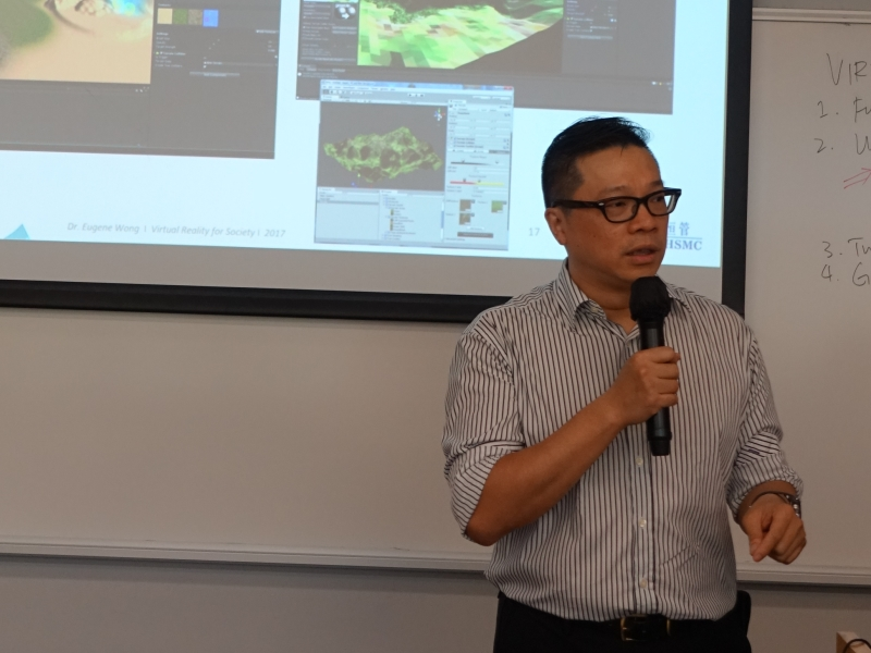 Mr Philip Kong shared how VR would change our daily lives.