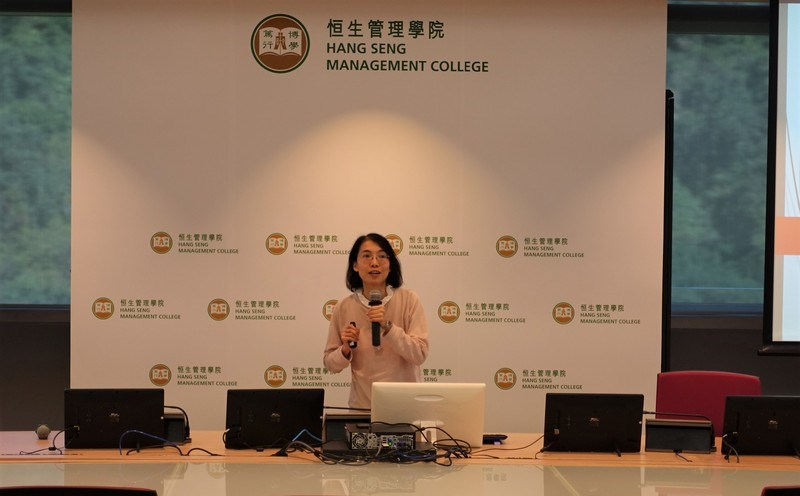 Dr Li Dongmei, Assistant Professor of Department of Marketing (left), and Dr Amanda Chu, Assistant Professor of Department of Mathematics and Statistics, shared their experience and tips with participants. -2