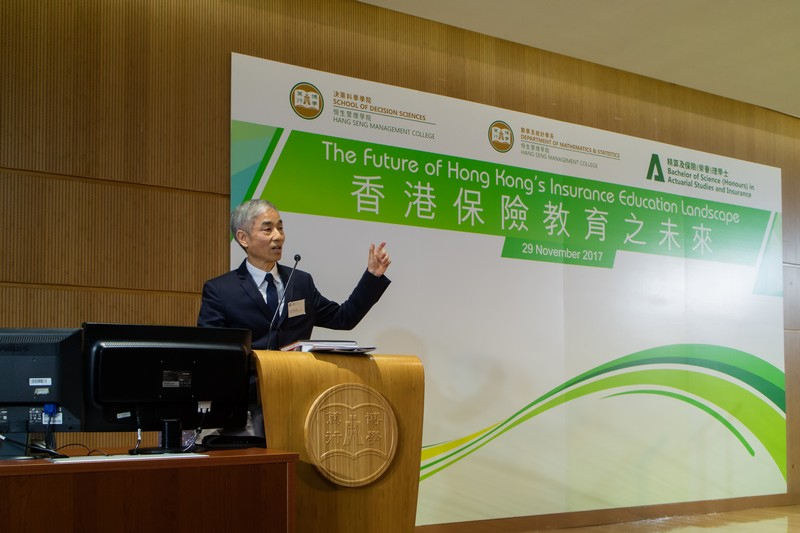 Mr Peter Tam, Chief Executive, Hong Kong Federation of Insurers, delivered a keynote speech.