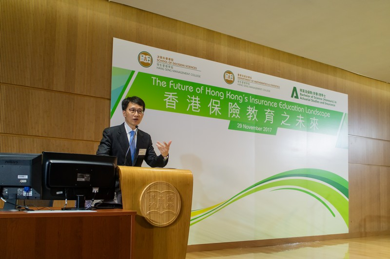 Mr Simon Lam, Executive Director, General Business, Insurance Authority, delivered a keynote speech.