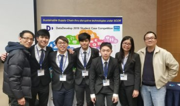 HSMC Team Second Runner-up in DataDevelop 2018 Student Case Competition