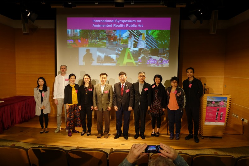 Officiating guests and participating artists attended the International Symposium cum Opening of Exhibition at the Hong Kong Heritage Discovery Centre in Kowloon Park.