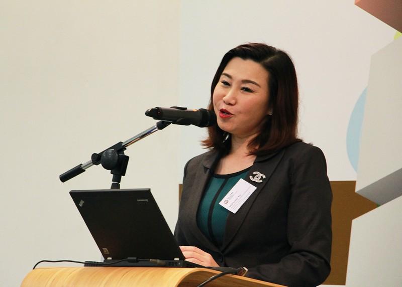 Dean Scarlet Tso, School of Communication, gave a welcoming speech.