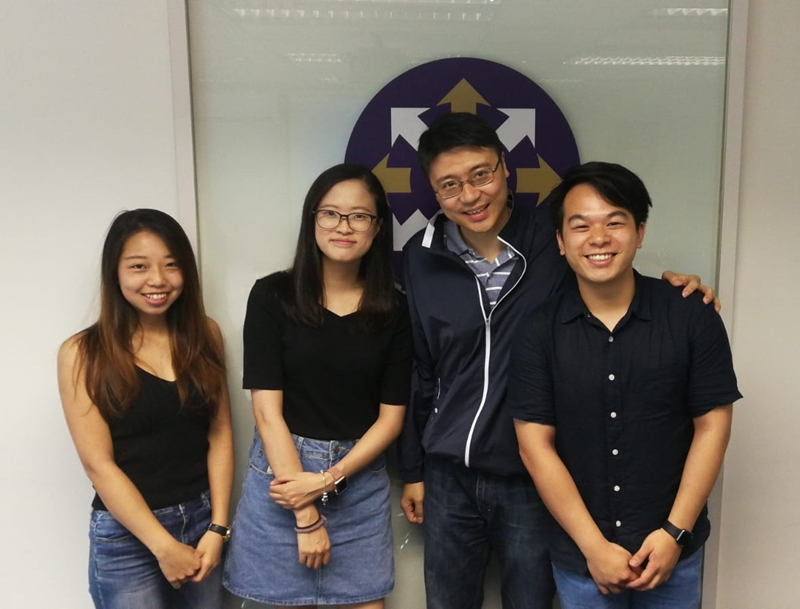 (From left, left photo) Cynthia Tam, Sonia Kwok and Joanna Tse ; (2nd and 1st from right, right photo) Dr Eugene Wong and Neil Lee. -2
