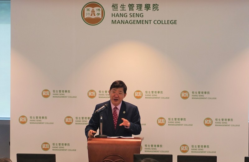 President Simon Ho gave the welcome remark and shared the latest development of HSMC.