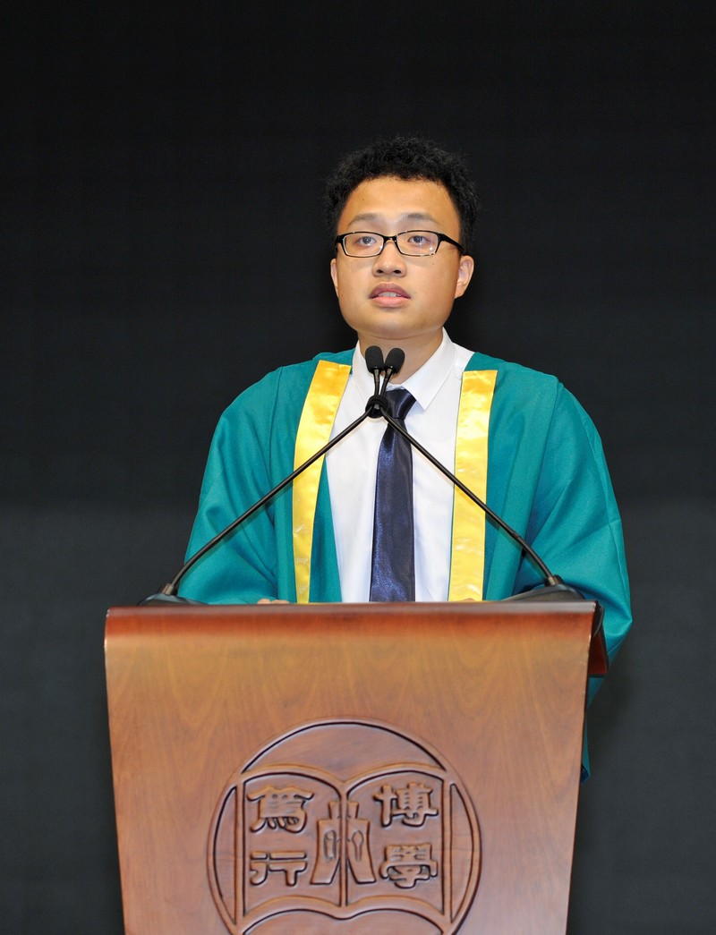 Mr Li Cheung Kuk, President of HSMC Students' Union, welcomed all new students.
